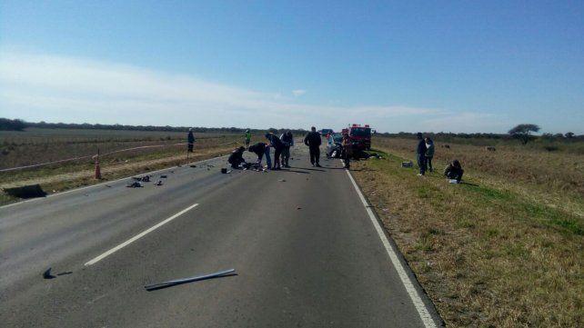 Triple colisión y un muerto en la ruta 95 en Gato Colorado