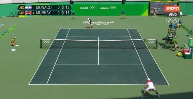 Mirá en vivo: Pico Mónaco busca dar la sorpresa ante Murray