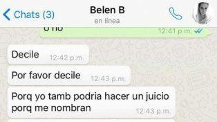 Me pueden rajar: el pedido desesperado de Belén a Cinthia Fernández por Defederico.