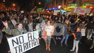 Indignación. Los santafesinos ya salieron a protestar en meses anteriores contra las tarifas.