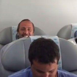 del potro fue ovacionado por los pasajeros del vuelo que lo trajo de regreso a la argentina