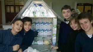 Empeño. Los alumnos de 1º año están entusiasmados con el proyecto que ahora arranca con la segunda tanda de producción.