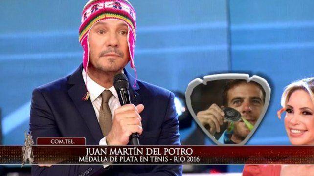 Del Potro dialogó con Tinelli: Me llena de orgullo darle otra medalla al país