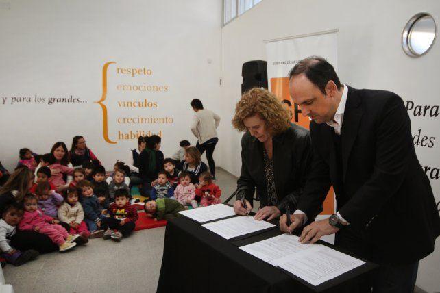 Jardines Municipales: El Municipio firmó un convenio con la Organización Mundial para la Educación Preescolar