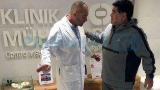 Así quedó Diego Maradona tras una operación