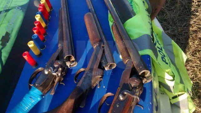 Detuvieron a cazadores furtivos y les secuestraron escopetas y cartuchos