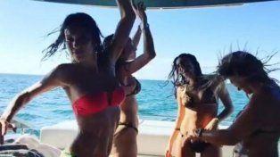 pampita y un baile super sensual junto a sus amigas en miami