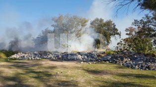 Se registra un incendio en inmediaciones del Parque de la Constitución