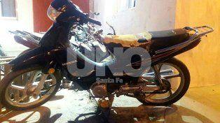 La moto en la que el delincuente cometió el ilícito