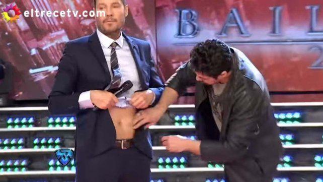 El blooper de Tinelli con Luciano Castro