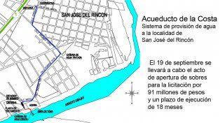 Rincón: licitarán un nuevo sistema de provisión de agua para la ciudad