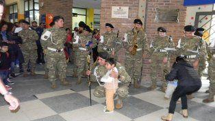 Una visita con mucha música en el Hospital de Niños de Santa Fe