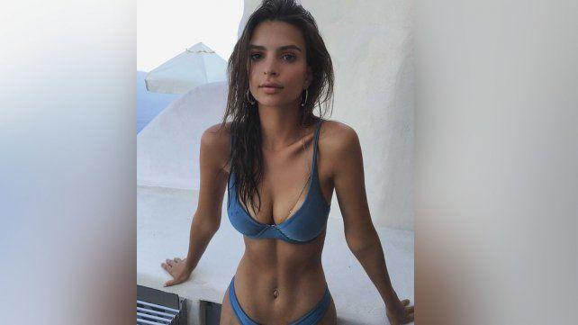 El desnudo y la delgadez de la modelo Emily Ratajkowski