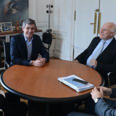 Sintonía. El gobernadordestacó el buen diálogocon los funcionarios nacionales.