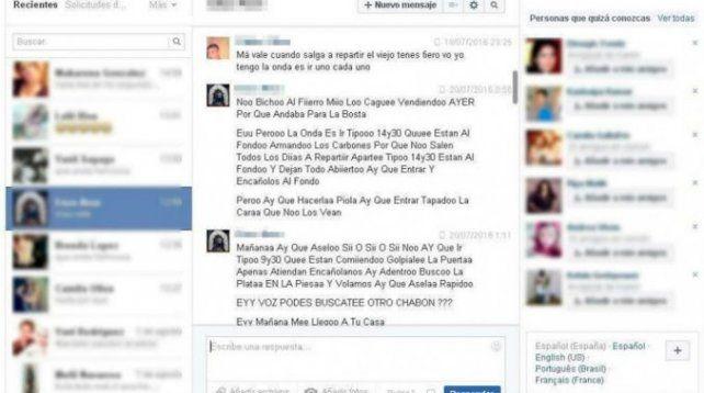 Asaltaron un cyber, pero dejaron abierto el Facebook: atraparon a uno