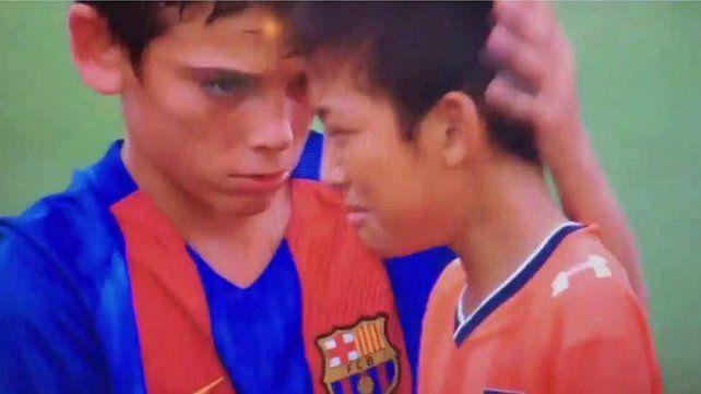 El gran gesto de los chicos de Barcelona