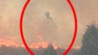 Capturan la imagen de un aterrador fantasma en un incendio