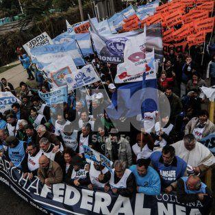 la marcha federal se hizo sentir en las calles de la ciudad