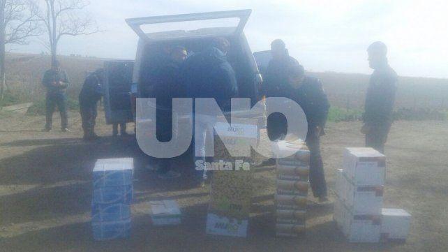 Hubo un tiroteo entre policías y delincuentes en la recuperación de agroquímicos robados