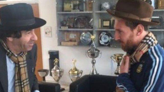 El desopilante encuentro de Minguito con Messi