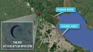 Una isla circular se mueve sola en el río Paraná y vuelve locos a los científicos de todo el mundo