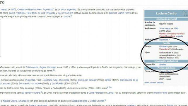 La maliciosa edición en Wikipedia sobre Luciano