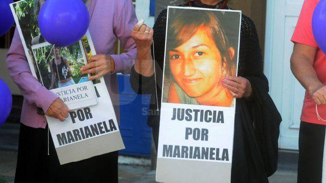 Reclamos. Marcha de familiares de Marianela pidiendo justicia.