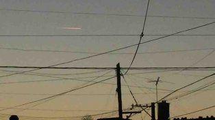 Uno de los objetos que se pudo ver en el cielo de Salta.