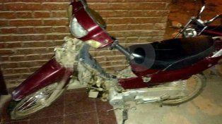 La moto con la que escapó hasta Santa Fe
