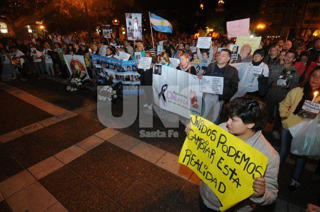 Víctimas de la inseguridad llevaron su reclamo por justicia a Casa de Gobierno
