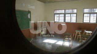 Aulas vacías. La medida afectará a las facultades de la UNL y las escuelas preuniversitarias.