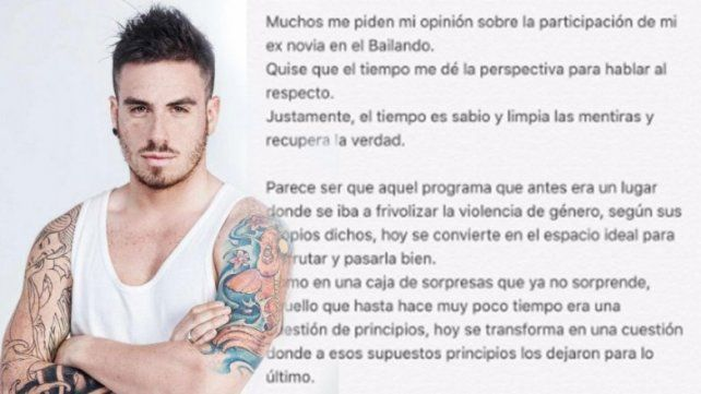 Federico Bal publicó un comunicado sobre la llegada de Barbie Vélez al Bailando