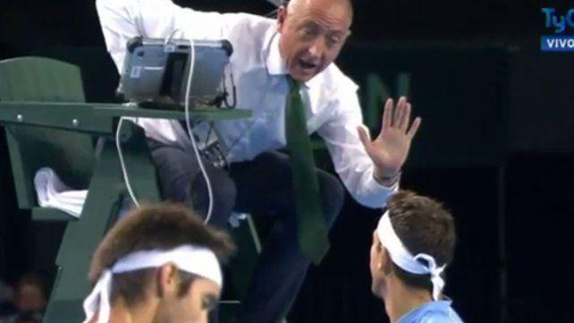 La broma de Del Potro que desató el enojo del árbitro