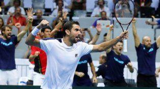 Croacia le ganó a Francia y es el primer finalista de la Davis