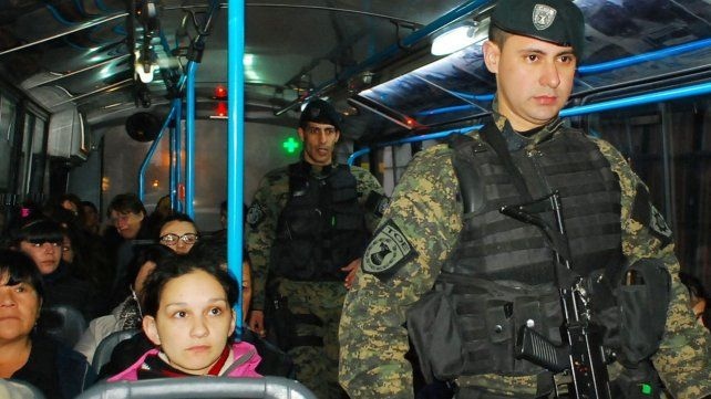 Fuerzas especiales realizarán controles policiales sorpresivos en los colectivos