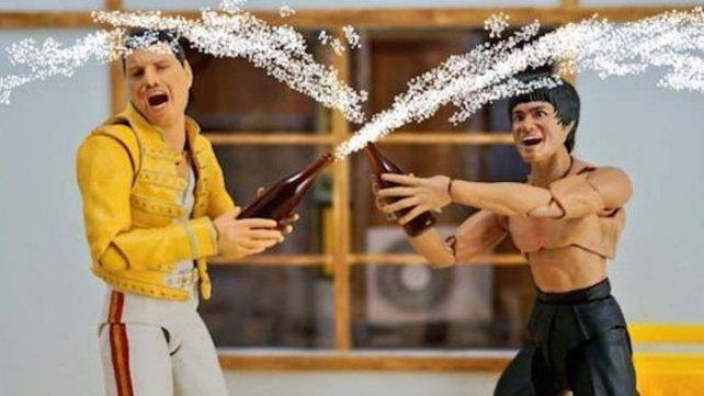 Las escenas de la vida cotidiana de Bruce Lee y Freddy Mercury conquista las redes sociales