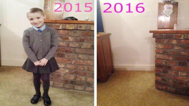 Una madre conmovió al mundo entero tras publicar una foto para concientizar sobre el cáncer infantil
