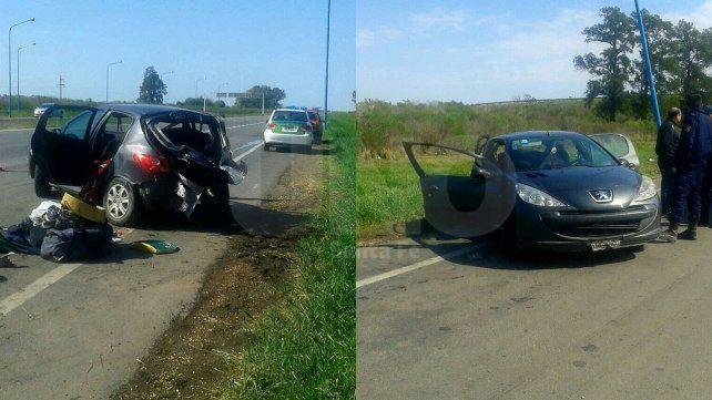 Falleció una mujer y otras tres personas resultaron heridas tras un vuelco en la autopista Santa Fe-Rosario
