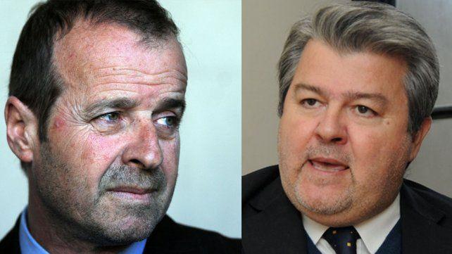 Ganón. El defensor general a la izquierda /García. El fiscal regional a la derecha.