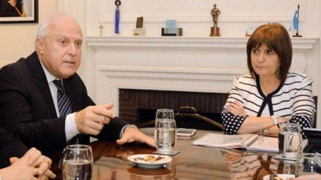 Bullrich, Lifschitz y los jueces federales están reunidos en la ciudad de Rosario