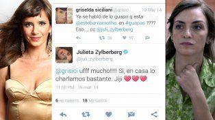 El día que Siciliani piropeó por Twitter a Lamothe y la esposa del actor acotó