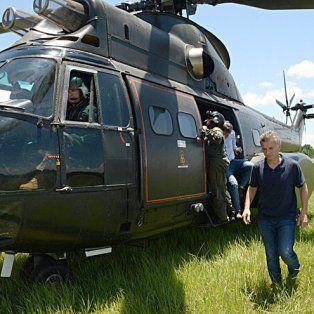 el helicoptero de macri aterrizo violentamente en olivos