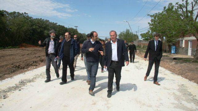 Las obras de pavimentación y desagües en avenida Peñaloza tienen un avance del 35%