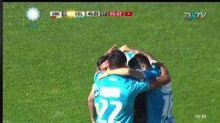Los goles de Belgrano en el 15 a Abril
