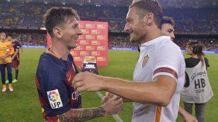 Messi felicitó a Totti