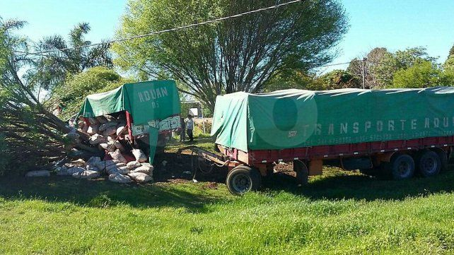 Secuestraron un camión cargado de azúcar y robado por piratas del asfalto en Pilar