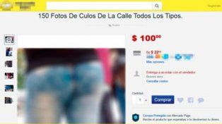 Se vendían fotos de colas de mujeres por MercadoLibre