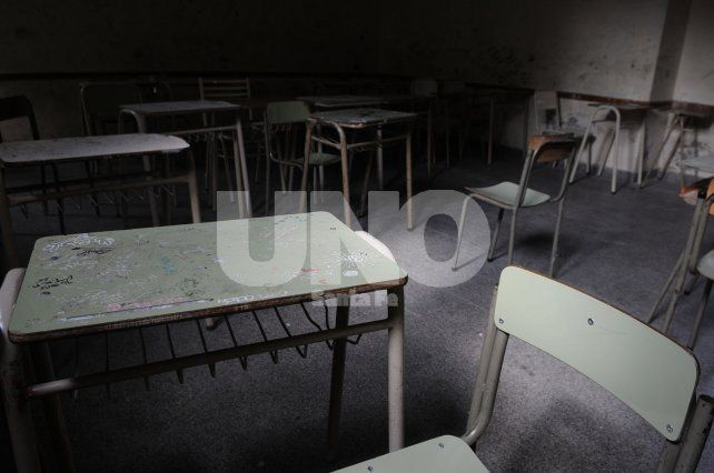 Aulas vacías. En la provincia es el segundo plan de lucha definido por los educadores desde julio.