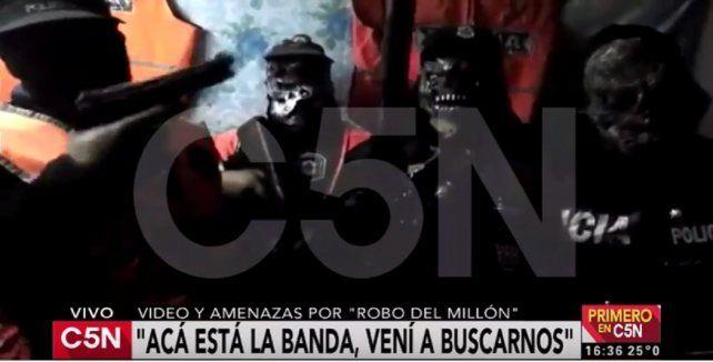 Impactante: un grupo de delincuentes graba y difunde video con amenazas