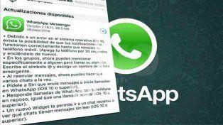 Llega la nueva actualización para Whatsapp